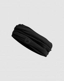 Tubhalsduk i exklusiv svart merinoull