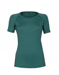 Dam t-shirt i merinoull turkos grön