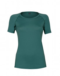 Dam t-shirt i exklusiv merinoull turkos grön