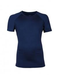 Herr-T-shirt i merino mörkblå