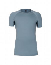 T-shirt herr - exklusiv merinoull blå