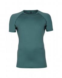 T-shirt herr - exklusiv merinoull blågrön