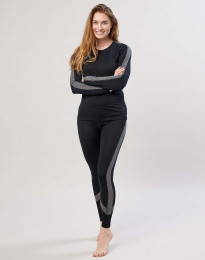Leggings för dam i exklusiv merinoull svart