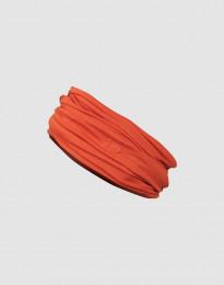 Tubhalsduk för dam i ekologisk exklusiv merinoull rostorange