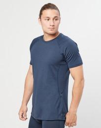 T-shirt herr - ekologisk exklusiv merinoull gråblå
