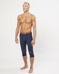 Korta leggings för herr - ekologisk exklusiv merinoull marinblå