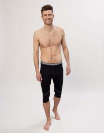 Korta leggings för herr - ekologisk exklusiv merinoull svart