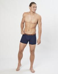Boxershorts i ekologisk, exklusiv merinoull marinblå