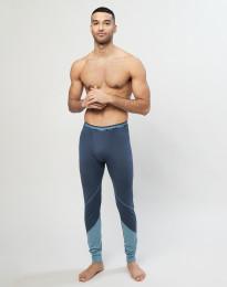 Leggings i ekologisk, exklusiv merinoull gråblå