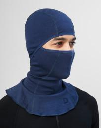 Balaclava för män - ekologisk exklusiv merinoull mörkblå