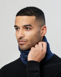 Tubhalsduk för män i ekologisk exklusiv merinoull mörkblå