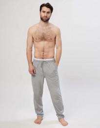 Pyjamaströja för män i bomull gråmelerad