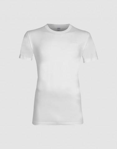 T-shirt i bomull herr vit