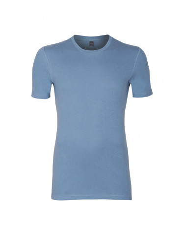 Premium Classic - t-shirt i bomull, herr blå