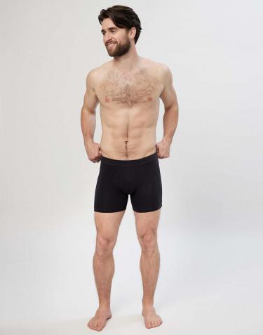Boxershorts i bomull med gylf svart