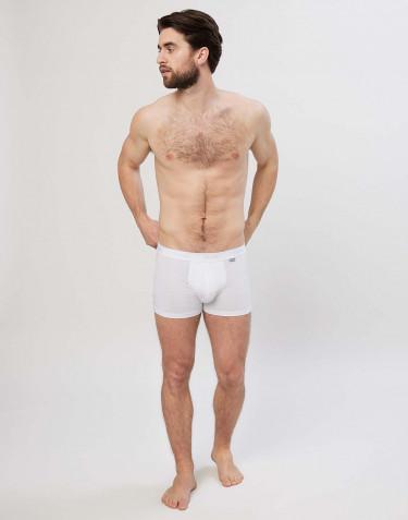 Boxershorts i bomull vit