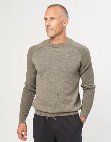 Stickad tröja för herr grågrön