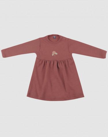 Klänning i merinoull till baby rouge