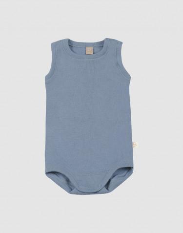 Ullbody för baby utan ärmar blå