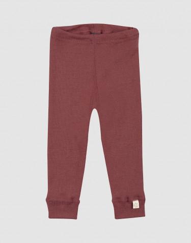 Leggings i merinoull till baby rouge