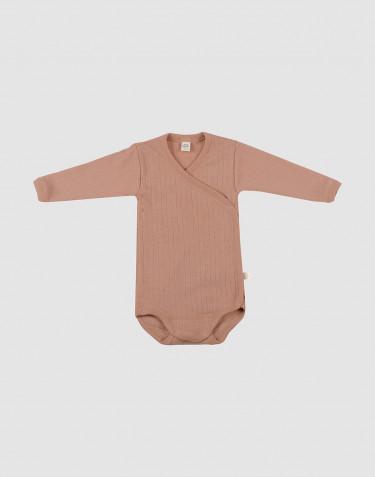 Merinoull omlottbody för baby puder