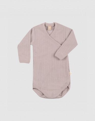 Omlottbody i merinoull för baby