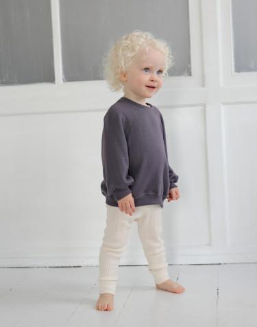 Sweatshirt i ullfrotté med vid ärm för baby