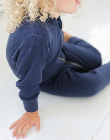 Hellång body i ullfrotté för baby