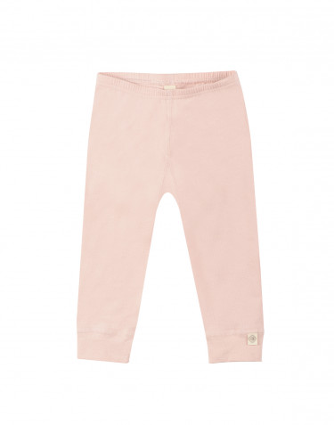 Leggings för baby i ekologisk bomull rosa