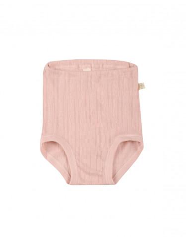 Babyunderbyxa i ekologisk bomull rosa
