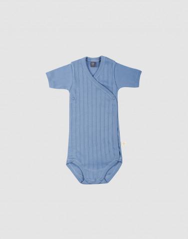 Omlottbody i ekologisk bomull för baby blå