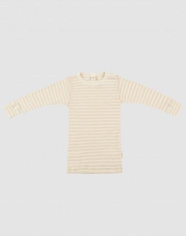 Långärmad tröja för baby i ekologisk ull/siden Beige/natur
