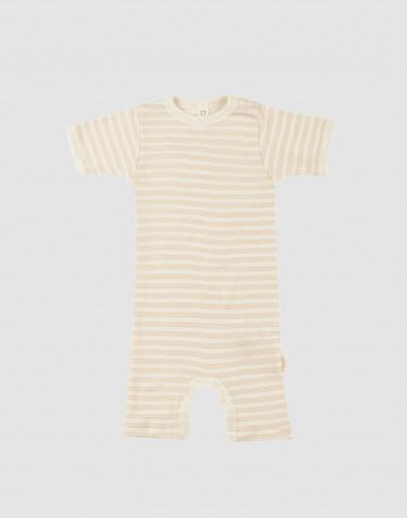 Sommardräkt för baby i ekologisk ull/siden Beige/natur
