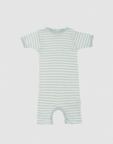 Sommardräkt för baby i ekologisk ull/siden pastellgrön/natur
