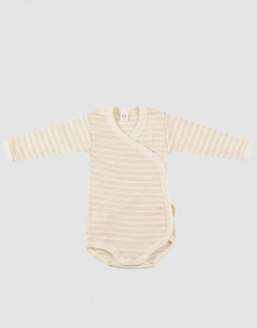 Omlottbody för baby i ekologisk ull/siden Beige/natur
