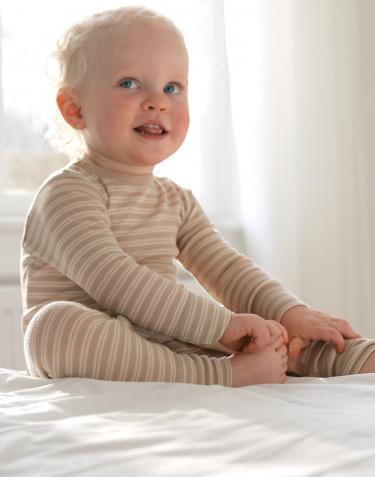 Sparkdräkt i merinoull/siden för baby