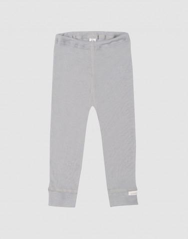 Leggings för baby i ekologisk ull/siden grå
