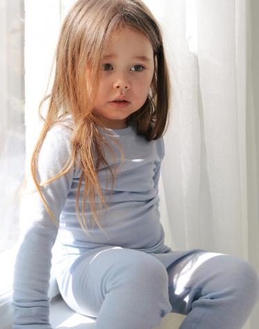 Leggings i merinoull/siden för baby