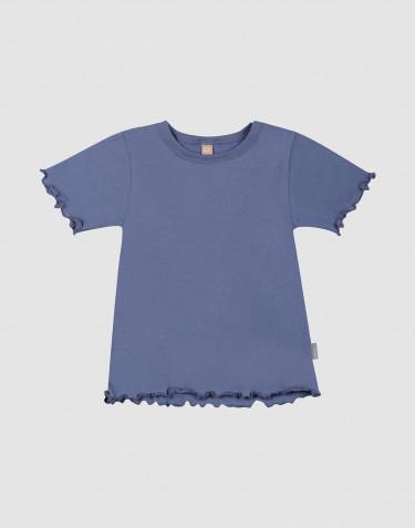 T-shirt i ekologisk bomull med krusade kanter för barn