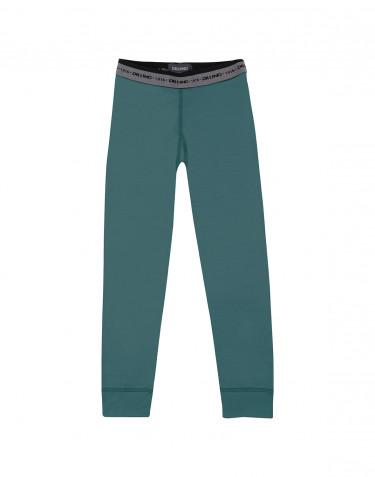 Leggings för barn - exklusiv merinoull blågrön