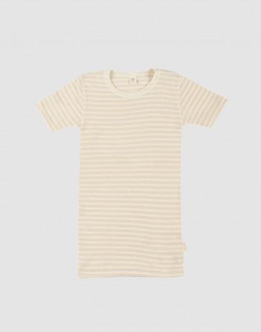 T-shirt för barn i ekologisk ull/siden Beige/natur