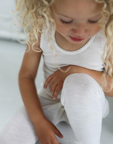 Leggings för barn i merinoull natur