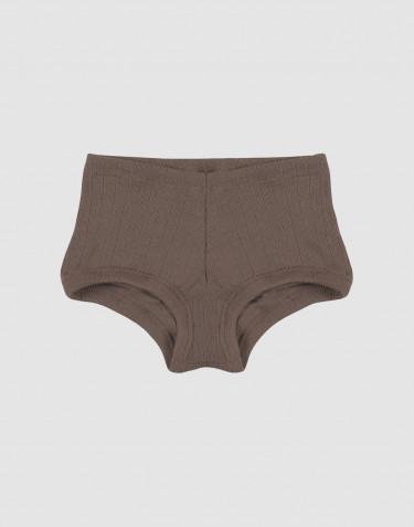 Hipstertrosa för flickor i bred ullribb fudge