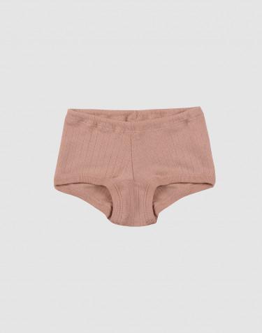 Hipstertrosa för flickor i bred ullribb puder