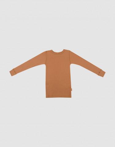 Barntröja i ullribb karamell