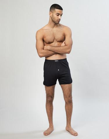 Boxershorts med gylf svart