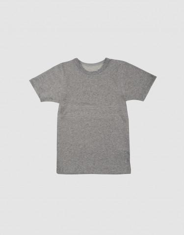 T-shirt för barn i ekologisk bomull Gråmelerad