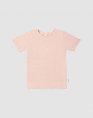 T-shirt för barn med tryck i bomull rosa