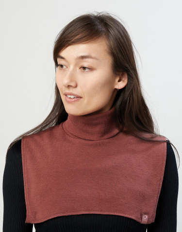 Fuskpolo för kvinnor i ekologisk merinoull rouge