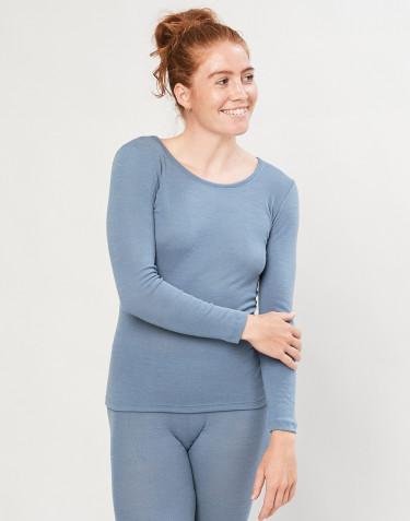 Tröja för damer - ekologisk merinoull blå